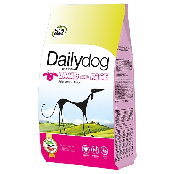 Dailydog Adult Medium Breed lamb and rice (20 кг)