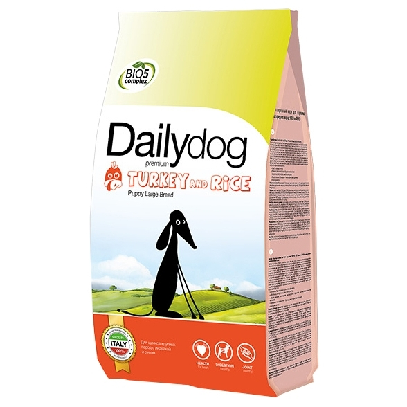 Dailydog Puppy Large Breed turkey and rice (20 кг)