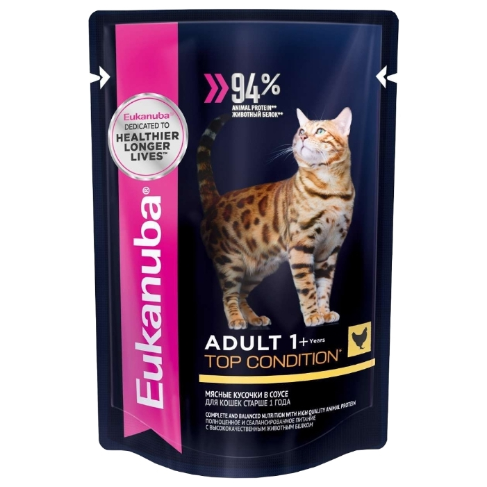 Eukanuba Adult Cat Pouch Chicken (0.085 кг) 1 шт.