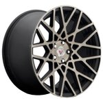 Vissol F-677 9.5x18/5x112 D66.6 ET25 Black Machined Dark Tint