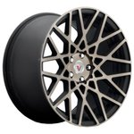 Vissol F-677 8.5x18/5x100 D57.1 ET45 Black Machined Dark Tint
