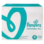 Pampers подгузники Active Baby-Dry 4 (8-14 кг) 174 шт.