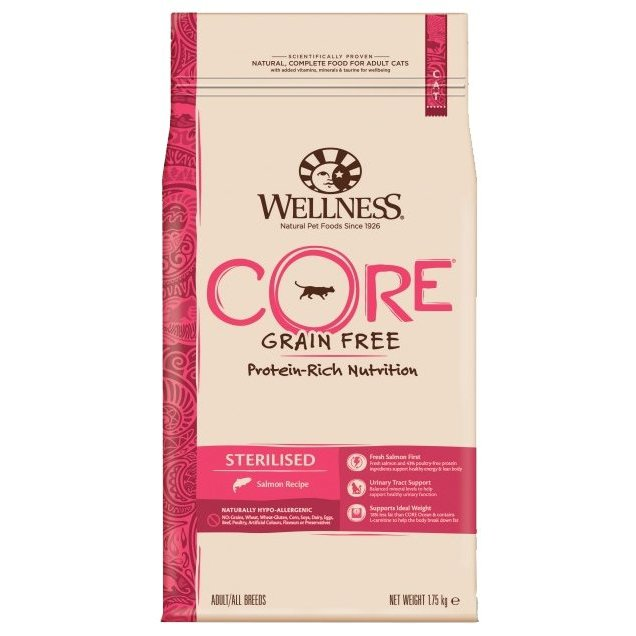 Сухой корм Wellness (1.75 кг) Cat CORE Sterilised Salmon