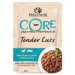 Влажный корм Wellness (0.085 кг) 1 шт. Cat CORE Tender Cuts Chicken & Salmon in Savoury Gravy