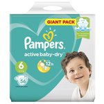 Pampers подгузники Active Baby-Dry 6 (13-18 кг) 56 шт.