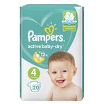 Pampers подгузники Active Baby-Dry 4 (9-14 кг) 20 шт.