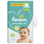 Pampers подгузники Active Baby-Dry 3 (6-10 кг) 104 шт.
