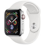 Часы Apple Watch Series 4 GPS + Cellular 40 mm Stainless Steel Case with Sport Band
