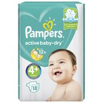 Pampers подгузники Active Baby-Dry 4 (10-15 кг) 18 шт.