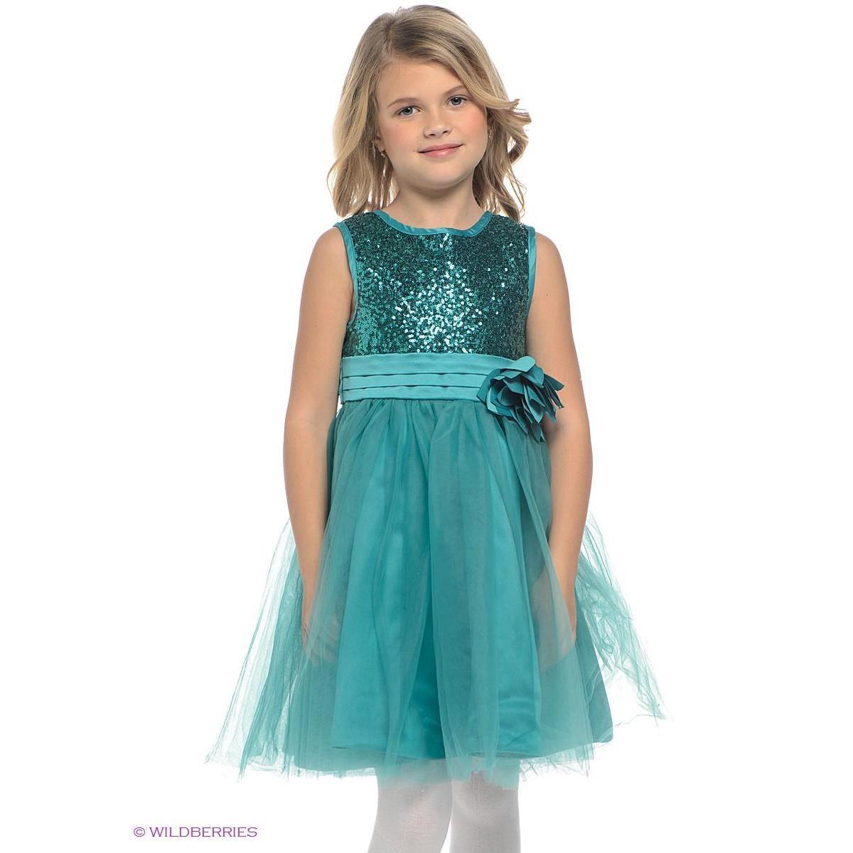 Детские платья с пайетками