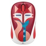 Logitech Wireless Mouse M238 Francesca Fox White-Red USB
