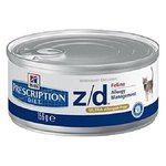 Hill's Prescription Diet (0.156 кг) 24 шт. Z/D Feline Allergy Management canned